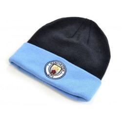 Manchester City FC officiella vuxna Monroe manschettstickad mössa One S Navy/Sky Blue One Size