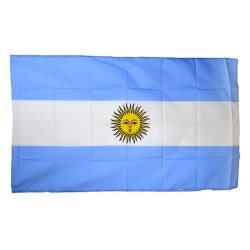 Argentinas nationella flagga (5ft X 3ft) En storlek blå / vit Blue/White One Size