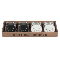 Something Different Cat Compact Mirrors (set 12) One Size Svart Black/White One Size