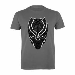 Black Panther T´Challa Mask Pojkvän T-shirt för kvinnor / damer L Ch Charcoal L