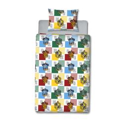 Harry Potter Hogwarts Houses påslakanset Enkel Flerfärgad Multicoloured Single