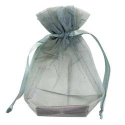 Club Green Medium Organza Bröllopspåse (förpackning med 10) Medium Silv Silver Medium