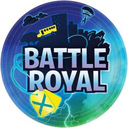 Battle Royal Paper Plates (8-pack) 23 cm mångfärgad Multicoloured 23cm
