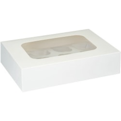 Club Green Muffin / Cupcake Box (2-pack) 2 x 2 Vit White 2 x 2