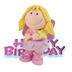 Creative Fairy Design Birthday Party Cake Topper One Size Pink Pink One Size