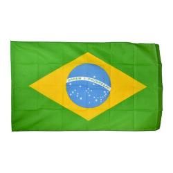 Brasilien Flagga (5ft X 3ft) En storlek Grön / Gul Green/Yellow One Size