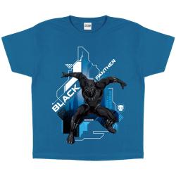 Black Panther Pojkar Crouch T-shirt 10-11 år Azure Blue Azure Blue 10-11 Years