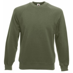 Fruit Of The Loom Mens Raglan Sleeve Belcoro® Sweatshirt 2XL Cla Classic Olive 2XL