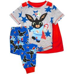 Bing Bunny Boys Long Pyjamas Set 3-4 år Grå/Blå/Röd Grey/Blue/Red 3-4 Years