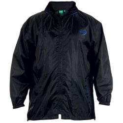 Duke Mens Zac Kingsize D555 Packaway Weather Proof Rain Jacket 8 Black 8XL