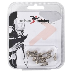 Precision Pyramid Athletic Shoe Spikes Set (Pack of 12) 6mm Silv Silver 6mm