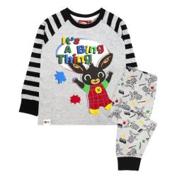 Bing Bunny Boys Its A Bing Thing Långärmad pyjamasuppsättning 3-4 Ja Grey/Black 3-4 Years