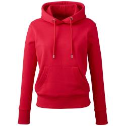 Anthem Womens/Ladies ekologisk luvtröja XS röd Red XS