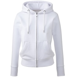 Anthem Womens/Ladies Organic Full Zip Hoodie L Vit White L