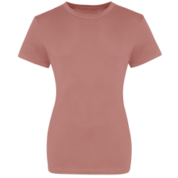 AWDis Just Ts Womens / Ladies The 100 Girlie T-Shirt 18 UK Dusty P Dusty Pink 18 UK