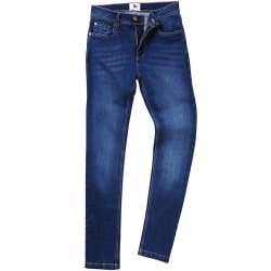 AWDis Så Denim Mens Max Slim Jeans 36L Mörkblå tvätt Dark Blue Wash 36L