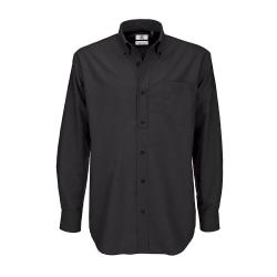 B&C Mens Oxford långärmad skjorta / Herrskjortor 6XL svart Black 6XL