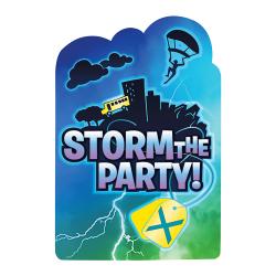 Slåss Royal Storm The Party Vykortinbjudningar (paket med 8) På Multicoloured One Size