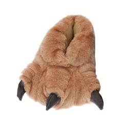 Barn / barn Monster Feet Design inomhus tofflor UK Shoe 11-12, E Brown UK Shoe 11-12, EUR 30-31