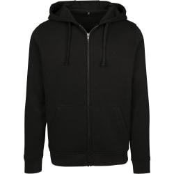 Build Your Brand Mens Merch Zip Hoodie S Black Black S