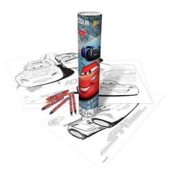 Disney Cars Poster Color-In Art Tube One Size Flerfärgad Multicoloured One Size