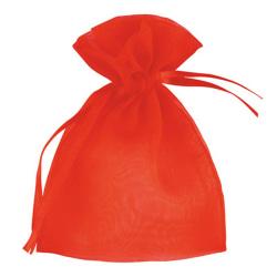 Klubbgrön liten organza bröllopspåse (förpackning med 10) liten röd Red Small