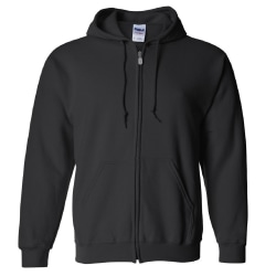 Gildan Heavy Blend Unisex tröja med full dragkedja för vuxna Topp 2 Black 2XL