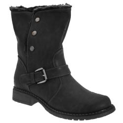 Cats Eyes Womens / Ladies Fold Down Biker Style Ankle Boots 4 UK B Black 4 UK