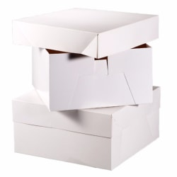 Club Green Square Cake Boxes (10-pack) 6-tums vit White 6in