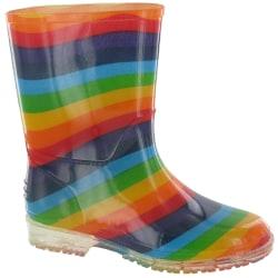 Cotswold PVC Kids Rainbow Welly / Girls Boots 20 EUR Multi Multi 20 EUR