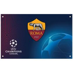 AS Roma Champions League Flagga One Size Flerfärgad Multicoloured One Size