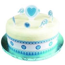 Kreativ tårtappare för födelsedagsfest för kreativ elefant med Sticke Blue One Size