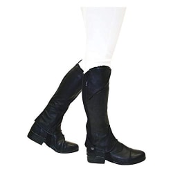 Dublin Barn / Barn Stretch Fit Half Chaps Childs Small Black / Black/Patent Piping Childs Small