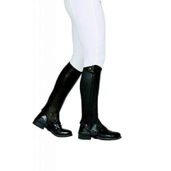 Dublin Evolution Adults Side Zip Leather Half Chaps XS Brown Brown XS