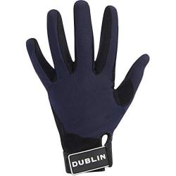 Dublin Mens Meshback Touch fästning Ridhandskar vuxna stora Navy Adults Large