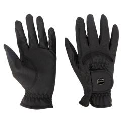 Dublin Unisex Faux Leather Touch fäste dressyr ridning handske Black Adults Xsmall