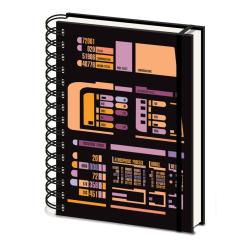 Star Trek Kontrollpanel A5 Notebook A5 Svart / Orange / Lila Black/Orange/Purple A5