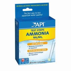 API -testremsor för ammoniak för fisk (25 -pack) En storlek kan variera May Vary One Size