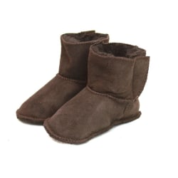 Eastern Counties Leather Baby Sheepskin Touch Fasten Tab Booties Chocolate S