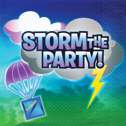 Battle Royal Storm The Party Servetter (Pack of 16) One Size Multi Multicoloured One Size