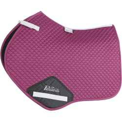 Performance Suede Horse Jumping Saddlepad 17in - 18in Plum Plum 17in - 18in