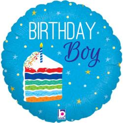 Betallic Birthday Boy Cake Folie Ballong One Size Blue Blue One Size
