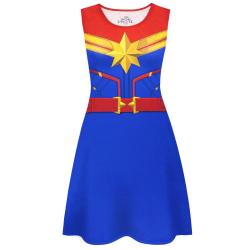 Captain Marvel kostymklänning för kvinnor/damer S mångfärgad Multicoloured S