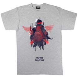 Call Of Duty Mens Black Ops Cold War Winged Soldier T-shirt M Gr Grey Heather M