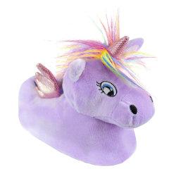 Flickor 3D Unicorn tofflor 11-12 UK Child Lila Lilac 11-12 UK Child