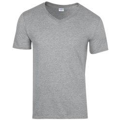 Gildan Mens Soft Style V-ringad kortärmad T-shirt XL Sport Grå Sport Grey (RS) XL