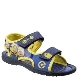 Leomil Kids / Childrens Minions Touch Fastening Sandal 8 UK Child Yellow/Blue 8 UK Child