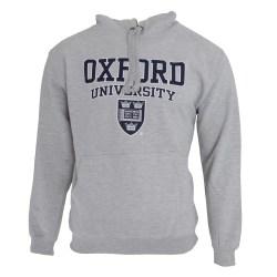 Oxford University Print Hooded Sweatshirt Jumper / Hoodie-topp L Grey L - 42inch - 44inch