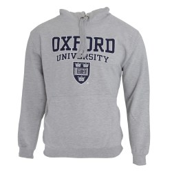 Oxford University Print Hooded Sweatshirt Tröja/luvtröja Grey L - 42inch - 44inch
