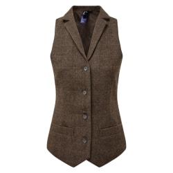 Premier Womens / Ladies Herringbone Waist M Brown Check Brown Check M